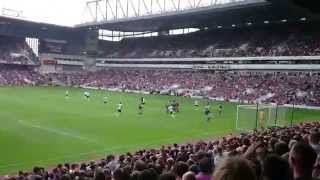 West Ham fan takes Spurs free kick - Tottenham away fans