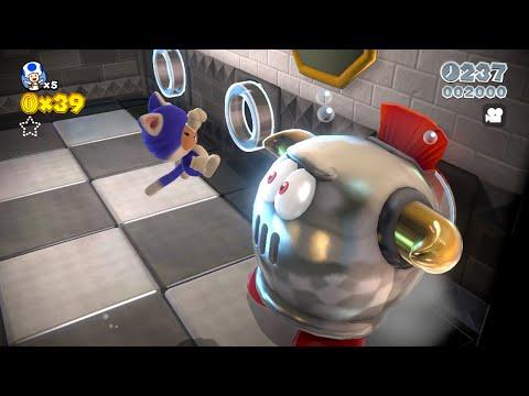 Super Mario 3D World: 6-A Prince Bully Blockade (1 Star) [Gameplay Walkthrough] [No Commentary]
