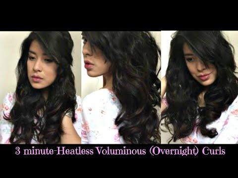 Easy Heatless Voluminous Waves || Heat free Overnight Curls