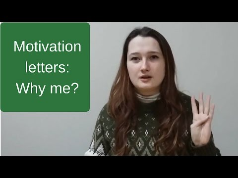 How to write a great motivation letter. Introduction: Why Lesya?