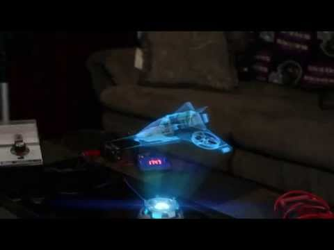 3D Hologram Projection Effect