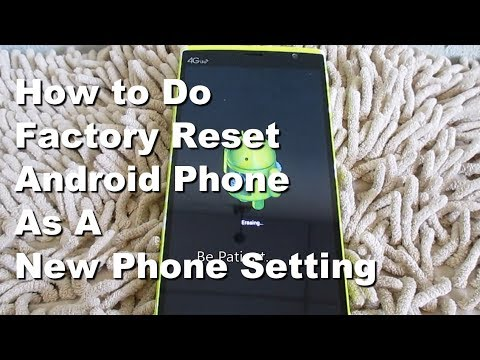 How To Format Old Android Mobile Phone Reset To Factory Data Setting