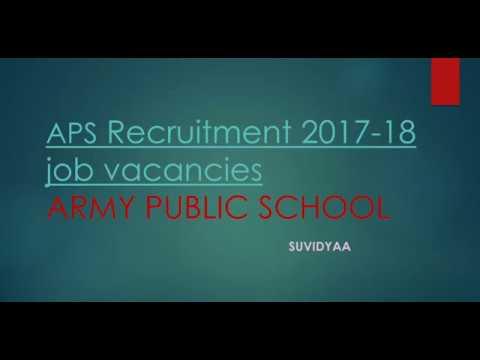 Army Public School Recruitment 2018 PGT/TGT/PRT