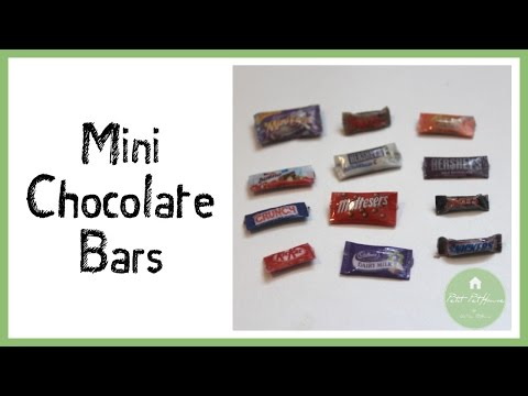 How to Make Realistic Miniature Chocolate Bar Wrappers