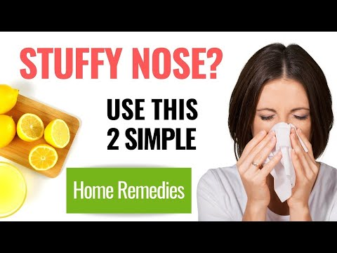Nasal Congestion: How to Get Rid of a Stuffy Nose Instantly.