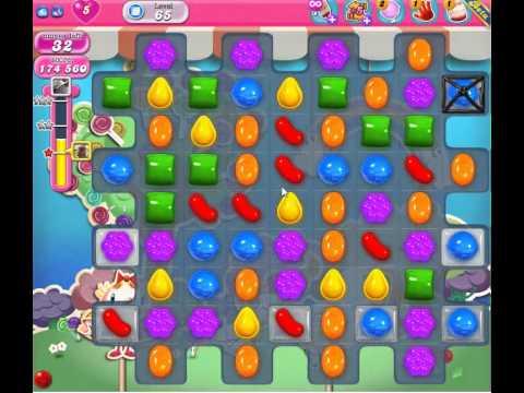 Candy Crush Saga Level 65 Basic strategy. NO BOOSTERS