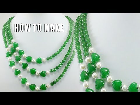 How to make Pearl Necklace at Home | Zooltv