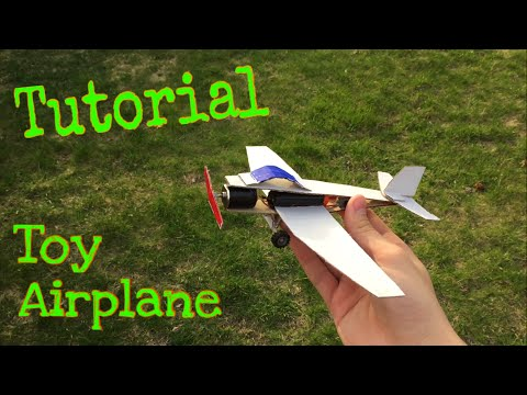How to Make a paper airplane - Electric Plane - Toy - Tutorial