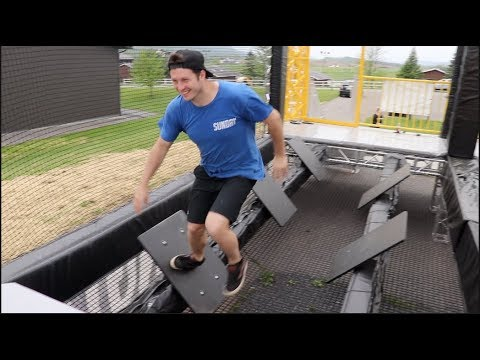 TRYING THE NEW NINJA WARRIOR COURSE!