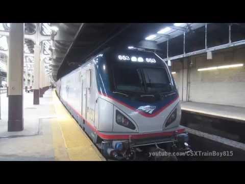 Newark Penn Station and Harrison Trains