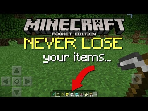 How to never lose your items in MCPE!!