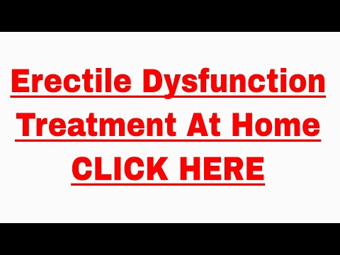 Erectile Dysfunction Treatment At Home