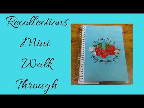 Mini Recollections Undated Spiral Planner Walk Through