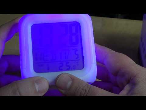 Color changing digital alarm clock review