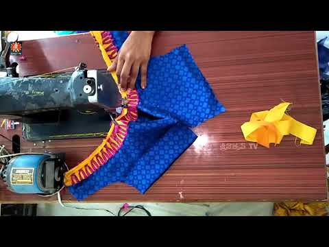 easy blouse back neck designs cutting and stitching at home # 01 by sri tv