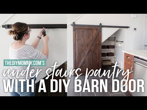 Build an Under Stairs Pantry with a Sliding Barn Door | The DIY Mommy