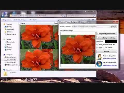 Windows 7: How to Change Folder Background