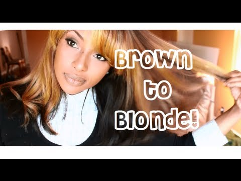 Going from Dark Hair to Blonde : Dying my Wig Shawty!