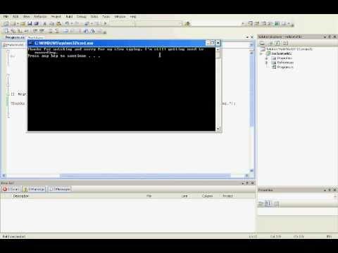 C# HelloWorld tutorial (Visual Studio 2008/2010)