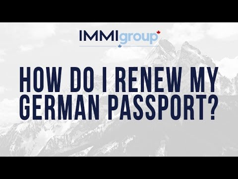 How do I renew my German passport?