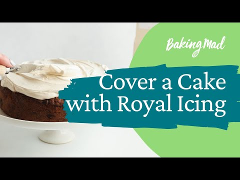 How to cover a cake with royal icing   Baking Mad