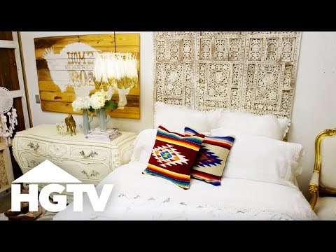 How to Design a Junk Gypsy Dream Bedroom - The Find & The Fix - HGTV