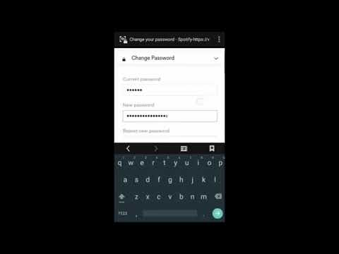 How to Change password Spotify Account (2018)
