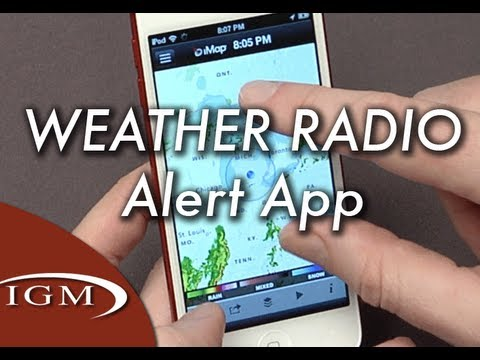 iMap Weather Radio app sends severe weather alerts to your iPhone