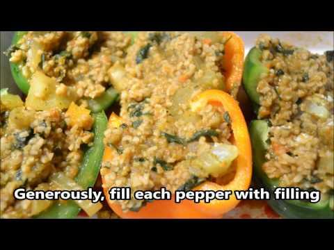 Bulghur Stuffed Peppers