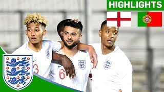 England U20 3-0 Portugal | Excellent Performance By Young Lions | Official Highlights