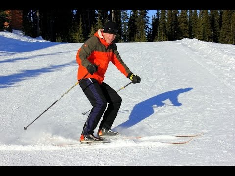 How to stop on Cross Country Skis