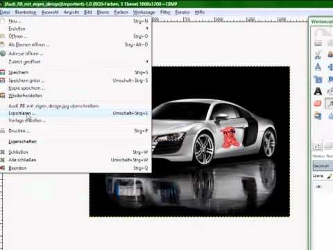 gimp tutorial speichern als jpg datei