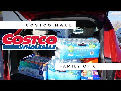 COSTCO SHOP WITH ME & HAUL | FAMILY OF 6 | JANUARY 2018
