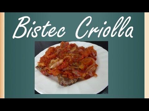 Como hacer Bistec a la criolla Recetas de cocina colombiana Recetatube