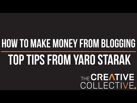 [How to make money from blogging] - Top tips from Yaro Starak