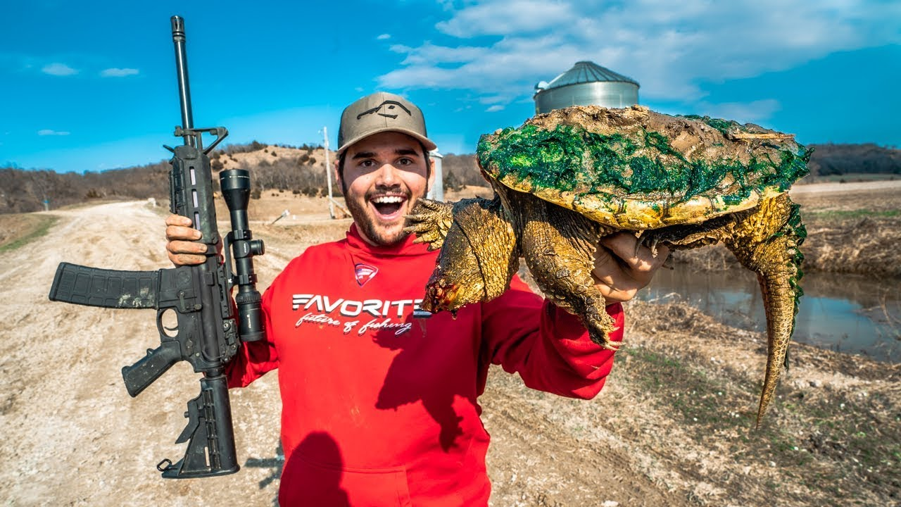 Epic SNAPPING Turtle CATCH CLEAN COOK!!!