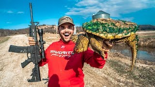 Download Epic SNAPPING Turtle CATCH CLEAN COOK!!! Video