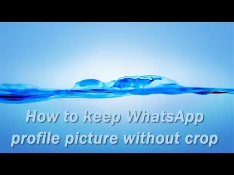 How To Keep WhatsApp Profile Picture Without Crop.