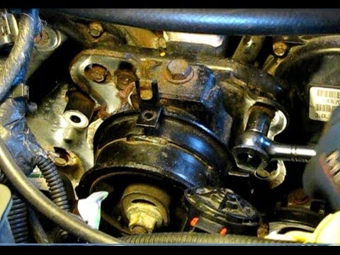 Dodge Caravan 3.0L replacing timing belt, water pump and front seals, part 1: Disassembly 1