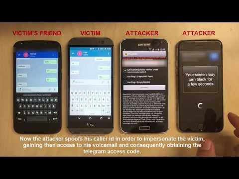 Hijacking Telegram through voicemail caller ID spoofing