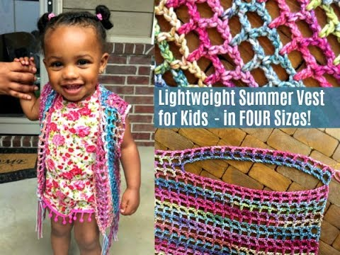 How to Crochet a Lightweight Summer Vest Crochet Pattern