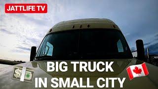 Punjabi Trucker in Canada ( City Work )