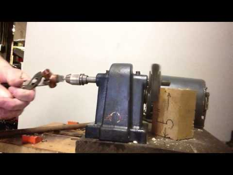 DIY copper fitting pipe cleaner machine