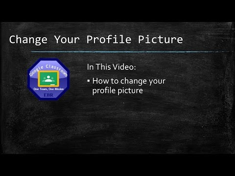 Change Your Profile Photo in Google Classroom