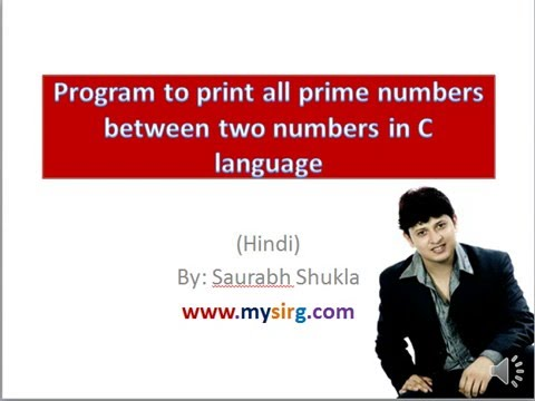 Program to print all prime numbers between two numbers in C