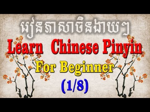 Learning Chinese Pin Yin Part 1 for beginner learner - រៀនភាសាចិនកំរិតដំបូង ភាគ ១