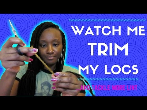 How I Trim My Locs to Remove Damaged Ends & Tackle Lint