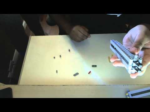 How to make a butterfly knife with Lego technics