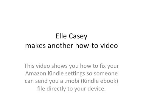 How to set up your Kindle account to receive eBooks via email