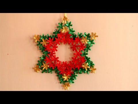 DIY Christmas Star | Christmas Wreath | DIY Christmas Decorations Ideas